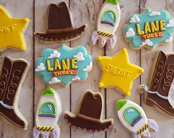 Toy story themed cookies
