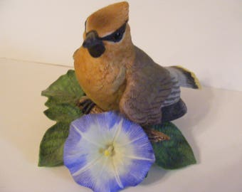 Gorgeous Vintage LENOX Fine Porcelain Bird Figurine CEDAR WAXWING hand painted Beautiful Bird!