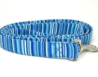 Blue Stripe Dog Leash