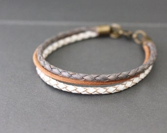 Leather Bracelet - Layering Leather Bracelet - Boho