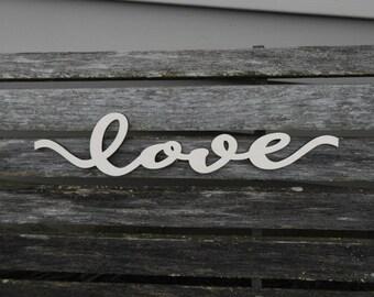 Custom Script Words. Personalized Wood Sentence Sign, Laser Cut Baltic Birch Wood. Wedding Gift, Home Decoration.