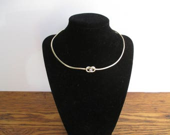 Vintage Mexico Alicia TD 27 Sterling Silver Choker with Cubic Zircona