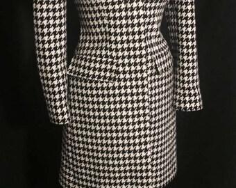 Vintage 1980's Lilli Ann Houndstooth Coat