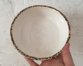 Cereal bowl - soup bowl - small serving bowl with textured rim