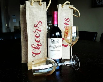 Wine bag personalized wine bag,