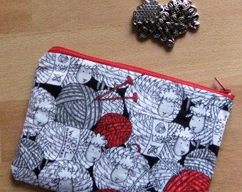 Yarn ball sheep little bag