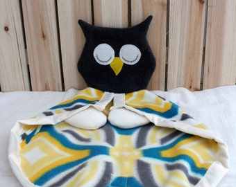 Owl Hand Puppet and Lovey