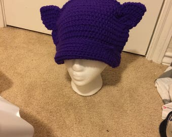 Purple Kitty Hat