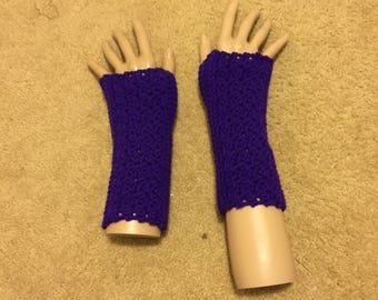 Purple Fingerless Gloves