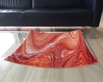 Big Orange, red and creamy white bowl, super fruitbowl, Dutch art.