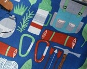 Camping (food safe) Lined, Reusable & Washable Zippered Bags (3 sizes)