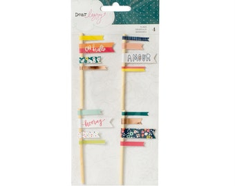 Dear Lizzy - Lovely Day Collection - Flag Embellishments - 4 pieces - 376959