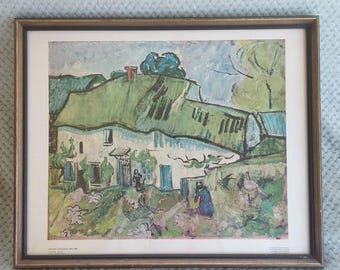 Print by Vincent Van Gogh titled The Farm,  marked  Netherlands  the rijksmuseum