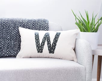 Personalised Geometric Cushion - Initial Cushion - Personalised Cushion - Scandinavian Cushion - Moroccan Cushion - Letter Cushion - Cushion