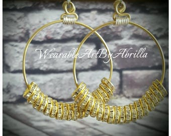 BILLIONaire... handmade .. handcrafted .. wearable art .. hoops .. gold jewelry