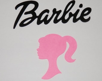 Barbie Head Die Cut 25 pieces you choose size and color