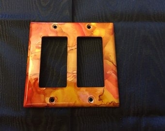 Alcohol Ink Light Switch Cover-L3