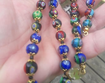Cloisonne Necklace 28 Inches