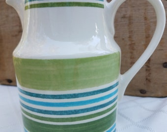 Johnson Brothers Woodland Stripe Pitcher - Made in England