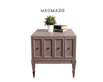 Gray Brown Transitional Side Table | 1232-00349