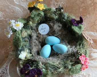 """Felted Nest 'Do You Suppose It's A Wildflower?"""" ~ Disney Themed Alice In Wonderland Nest  ..."""