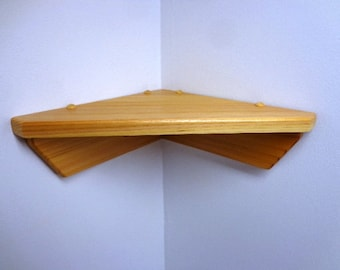 Cedar Wall Mounted Corner Self - Display Shelf - Knick-Knack Shelf - Hand Crafted - Nursery -