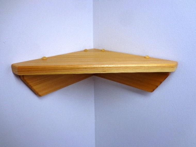 Cedar Wall Mounted Corner Self Display Shelf Knick Knack