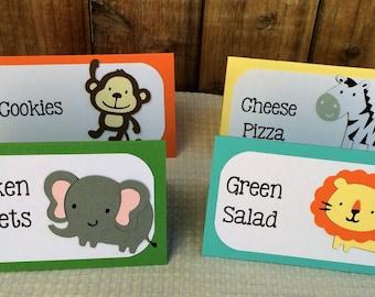 Jungle Animals Food Labels- set of 8