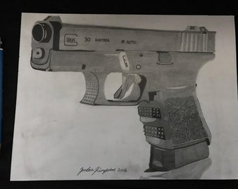 Glock 30 Drawing By Jordan Kimpton