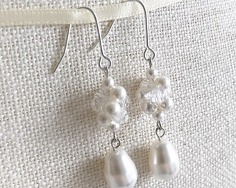 Earrings Pearl Swarovski Crystals ER20192