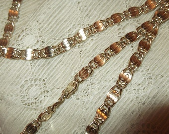 Gold Plated S Link Chain , S Link Necklace, Vintage Necklace, Vintage Chain