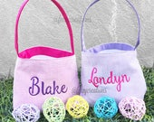 Personalized Easter Basket | Mongram Easter Bucket | Easter Basket | Easter Bucket | Easter Basket Personalized | Embroidered Basket
