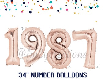 30th birthday for her   1987 Banner Balloon ROSE GOLD   30 Party   Thirsty Thirty   30th Birthday Rose GOLD Balloon Banner   Dirty Thirty