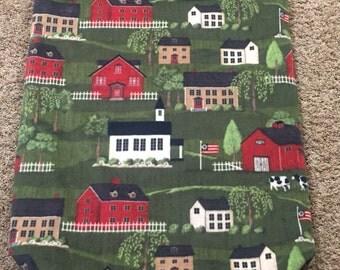 Americana fleece and Minky SnuggleSak Sleeping Bag for your small burrowing dog or cat