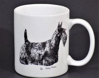 Porcelain Coffee Mug Cup Yorkshire Terrier