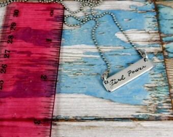 Sample sale. Girl power necklace.