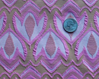 Pink and white tulip patterned fabric