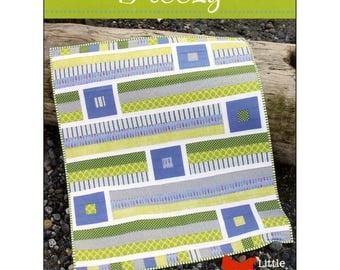 """Pattern """"Breezy"""" Crib / Baby Quilt Pattern by Cluck Cluck Sew (CCS148) Paper Pattern Instructions"""