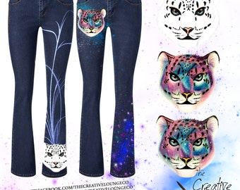 Custom Painted Jeans: Galaxy Leopard