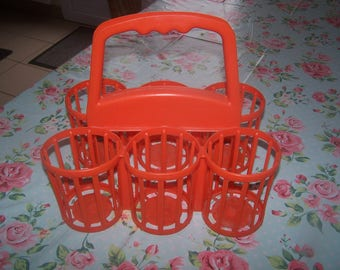 Plastic bottle orange - vintage 60/70