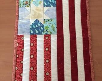 Americana quilt door hanger
