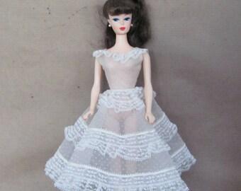 Vintage Barbie Clothes, 1960's Barbie Dress, #966 Plantation Belle, Vintage Barbie Dress