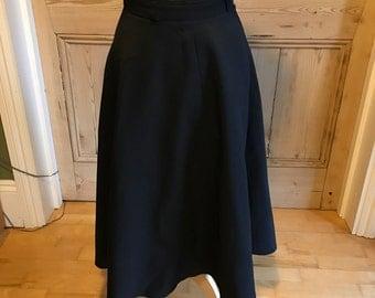 """Vintage full black skirt 25"""" waist"""