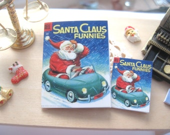 dollhouse comic christmas santa claus vintage inspired 12th scale or playscale lakeland artist