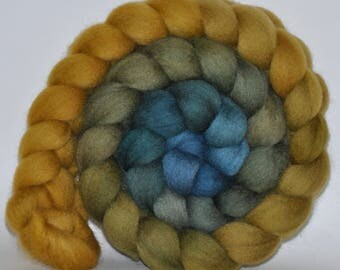 BFL   Hand Dyed Roving  5.11 ounces - Open Secret Gradient  combed top