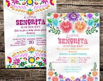 Fiesta babyshower theme digital download