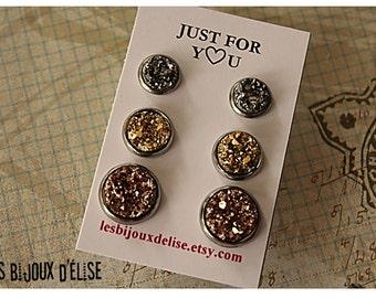 Shiny Faux Druzy Earrings Stud Faux Druzy Earrings Bridesmaid Gift