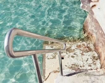 Beach print, Beach photography, Ocean pool, Turquoise, coastal photography, ocean photography, Green print, Bronte