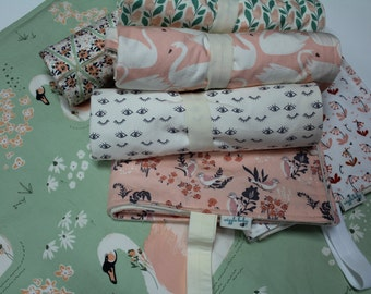 ORGANIC Changing Pad, Waterproof Travel Size Changing Pad, Baby Changing Mat, On the Go Changing Mat, Choose your Fabric, Note at checkout