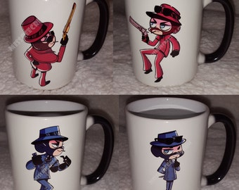 Set of Four Color Change Chibi  Mug - MrPaladin